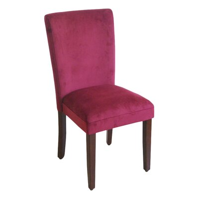 Side Chair Upholstery: Rich Berry Merlot