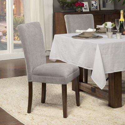 HomePop Parsons Chair (Set of 2) - Upholstery: Velvet - Dove Gray Plush