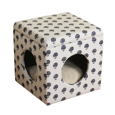 Nesbit Decorative Hideaway Ottoman Cat Bed
