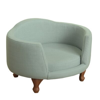 Sophisticated Decorative Dog Love Seat with Curved Back