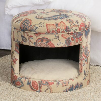 Casual Decorative Hideaway Ottoman Cat Bed