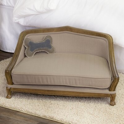 Sophisticated Decorative Dog Sofa with Arched Wood Frame