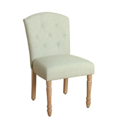 Delilah Table Side Chair Upholstery: Pale Blue, Finish: White Washed