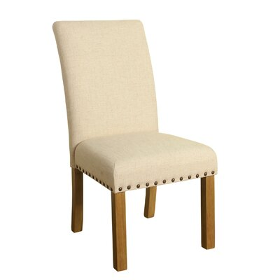 Michele Side Chair Upholstery: Natural Linen, Finish: Natural