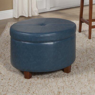 Salvatore Storage Ottoman Upholstery: Teal
