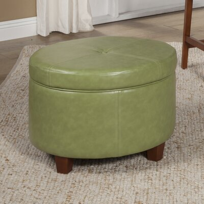 Salvatore Large Round Storage Ottoman Upholstery: Moss Green