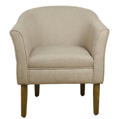 Bobby Barrel Arm Chair Color: Flax Brown