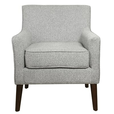 Jones Street Mid Century Arm Chair Upholstery: Ash Gray