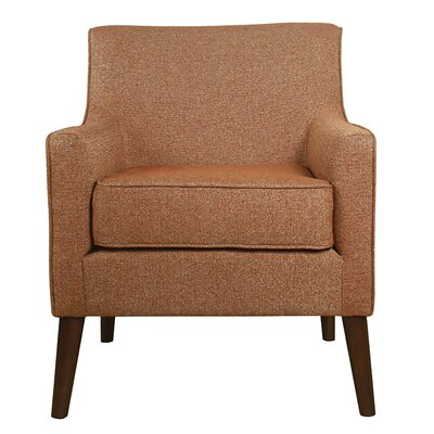 Jones Street Mid Century Arm Chair Upholstery: Autumn Orange