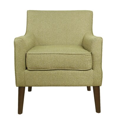 Jones Street Mid Century Arm Chair Upholstery: Citron Green