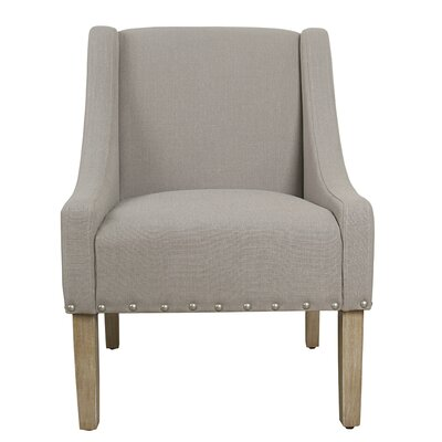 Sidney Swoop Arm Chair Upholstery: Tan