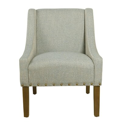 Sidney Swoop Arm Chair Upholstery: Vapor Teal