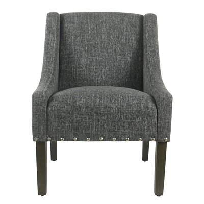 Sidney Swoop Arm Chair Upholstery: Slate Gray