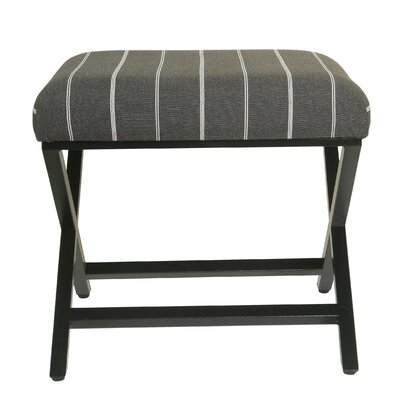 Penfield Stripe Modern Metal X-Base Ottoman