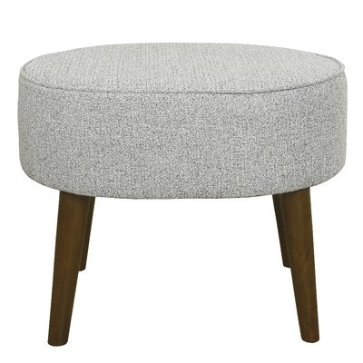 Zachary Oval Ottoman with Wood Legs