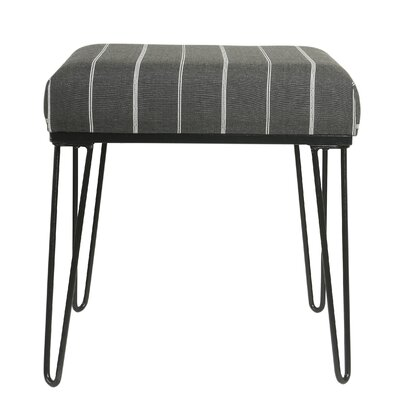Cissus Stripe Ottoman with Metal Hairpin Legs