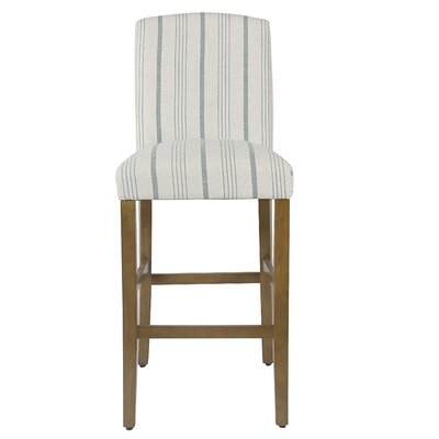 Lake Kathryn Classic High Back 30.5 Bar Stool Upholstery: Blue, Color: Light Gray