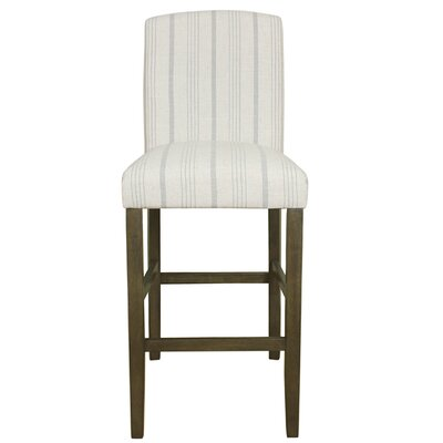 Bonniview Classic High Back 30.5 Bar Stool Upholstery: Dove Gray, Finish: Gray