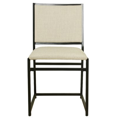 Cullerton Side Chair Upholstery: Burlap, Finish: Gray