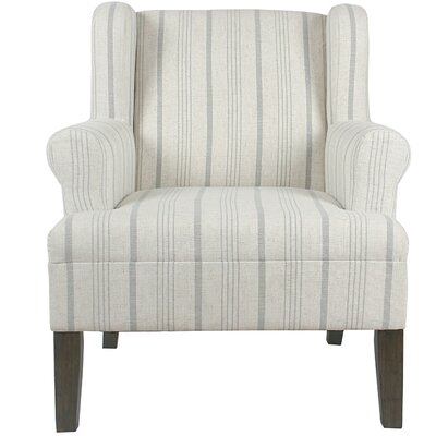 London Rolled Wing back Chair Upholstery: Dove Gray