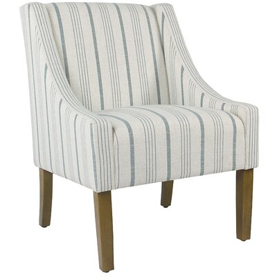 Sidney Swoop Arm Chair Upholstery: Blue