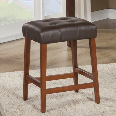 Northlake 24 Bar Stool Upholstery: Chocolate Brown, Finish: Mid-Tone Brown
