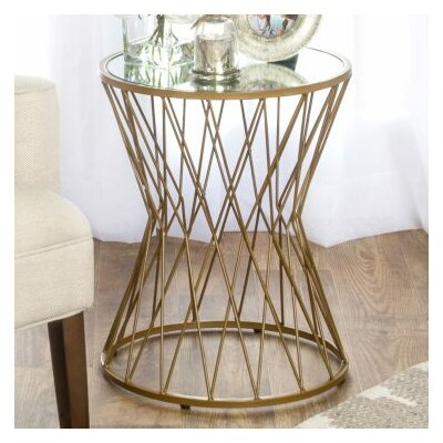 Stephen Hourglass Metal End Table