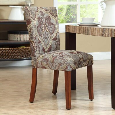 Bower Upholstered Damask Parsons Chair