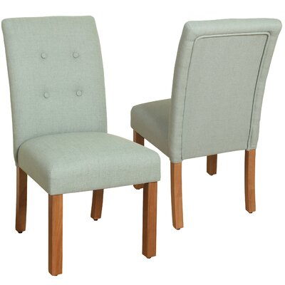 Traynor 4-Button Tufted Parsons Chair Upholstery: Spa Blue
