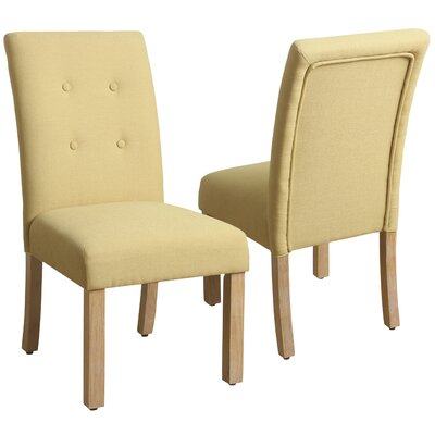 Traynor 4-Button Tufted Side Chair Upholstery: Soft Yellow
