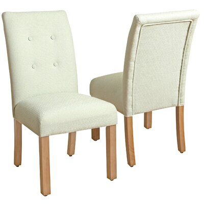 Traynor 4-Button Tufted Parsons Chair Upholstery: Mineral