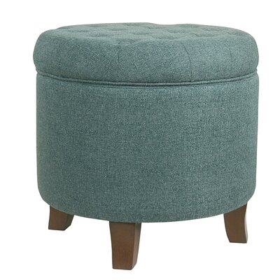 Brandee Tufted Storage Ottoman Upholstery: Teal