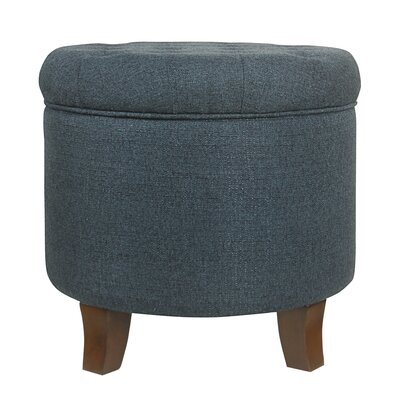 Brandee Tufted Storage Ottoman Upholstery: Indigo
