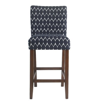 Thorndale Textured 30 Bar Stool Upholstery: Navy
