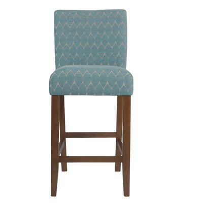 Thorndale Textured 30 Bar Stool Upholstery: Teal