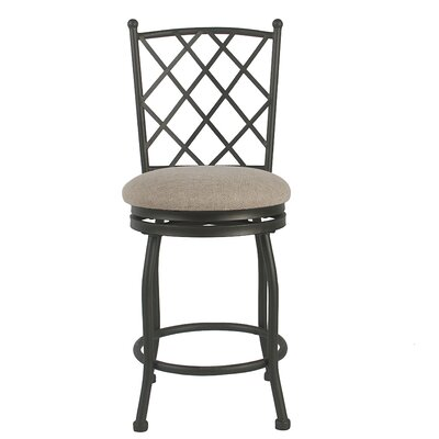 Buffalo Metal 24.5 Swivel Bar Stool Upholstery: Bronze