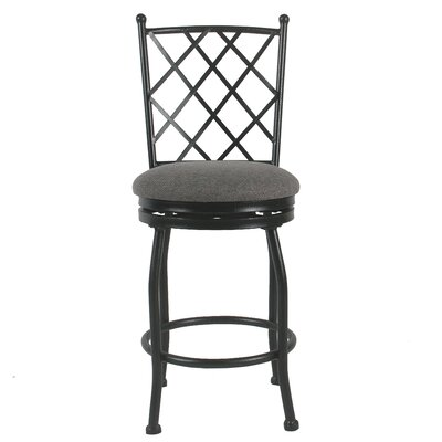 Buffalo Metal 24.5 Swivel Bar Stool Upholstery: Gray