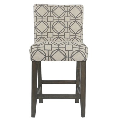 Marina Classic Parsons 25 Bar Stool Upholstery: Gray Lattice