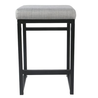 Ectasia Open Back 16 Bar Stool Upholstery: Light Gray