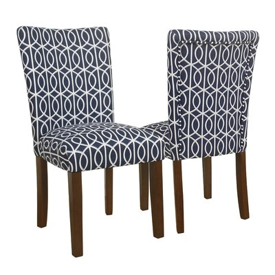 Zariyah Parsons Trellis Upholstered Dining Chair