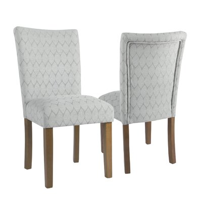 Haverstraw Textured Parsons Upholstered Dining Chair Upholstery Color: Gray
