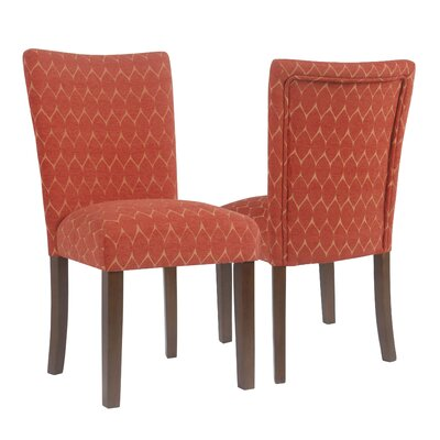 Haverstraw Textured Parsons Upholstered Dining Chair Upholstery Color: Melon