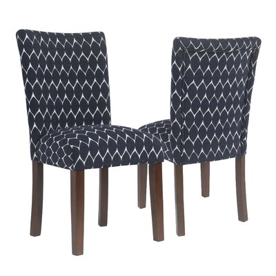 Haverstraw Textured Parsons Upholstered Dining Chair Upholstery Color: Navy