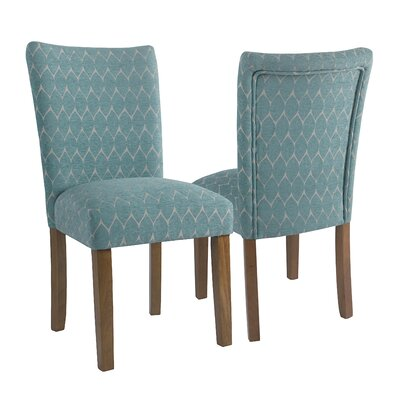 Haverstraw Textured Parsons Upholstered Dining Chair Upholstery Color: Teal
