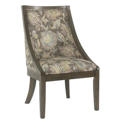 Rawley Industrial Floral Upholstered Dining Chair