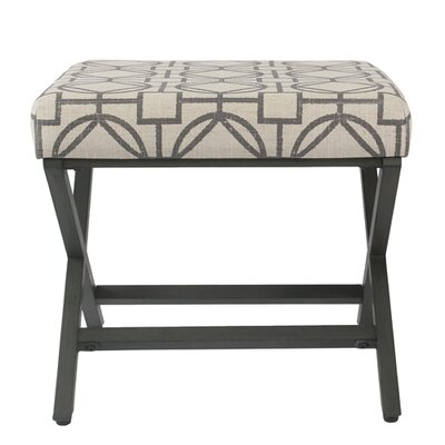 Porrima Upholstered Lattice Ottoman