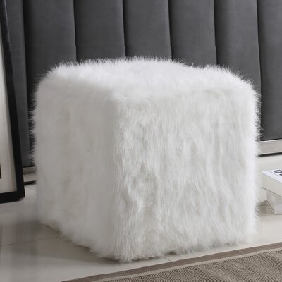 Kennard Poof Ottoman Upholstery: White