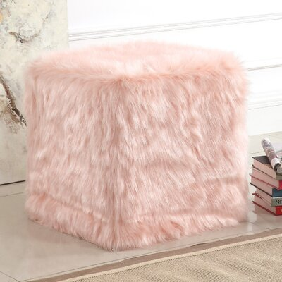 Kennard Poof Ottoman Upholstery: Pink