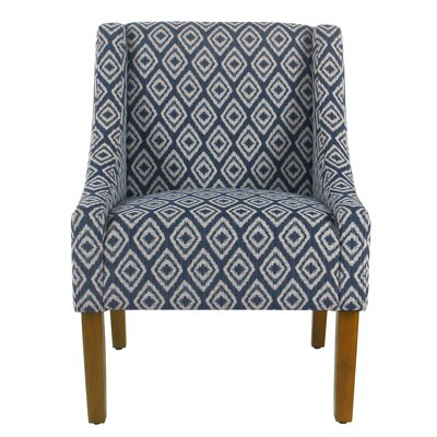 Letterly Swoop Armchair Upholstery: Indigo