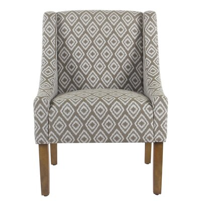 Letterly Swoop Armchair Upholstery: River Rock Brown